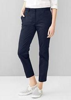 Slim cropped geo pants