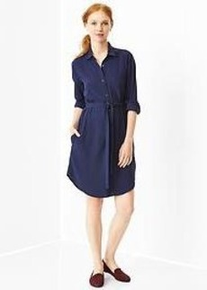 Solid shirtdress