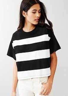 Stripe crop tee