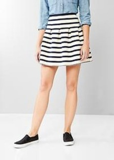 Stripe flared skirt