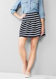 Stripe flared skirt
