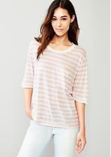 Stripe fluid relaxed tee