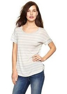 Stripe fluid tee