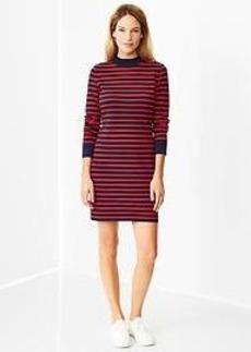 Stripe mockneck dress