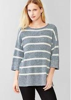 Stripe oversized swing sweater