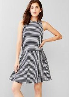 Striped mini fit & flare
