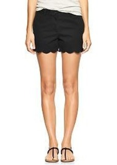 Sunkissed scallop-hem shorts