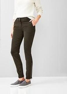 Super skinny ankle-zip khakis