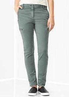 Super skinny side-zip khakis