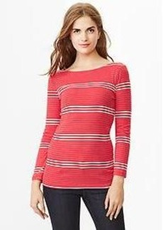 Supersoft stripe boatneck tee