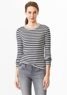 Supersoft stripe crewneck tee