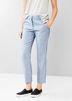 Tailored crop linen pants
