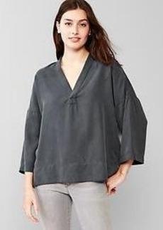 Tencel&#174 drapey V-neck top