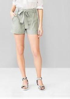 Tencel&#174 paperbag-waist shorts