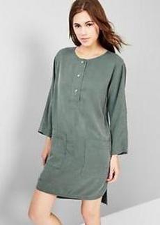 Tencel&#174 shirttail dress