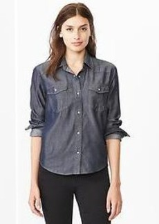 Tencel&#174 shrunken western shirt