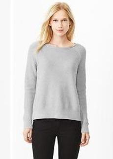 Textural raglan sweater