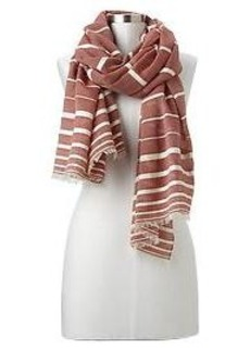 Textural stripe scarf
