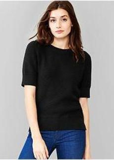Textural sweater top