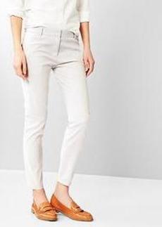 Thin-stripe skinny crop pants