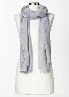 Ticking stripe scarf