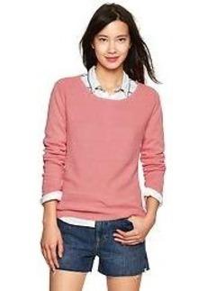 Tuck-stitch sweater