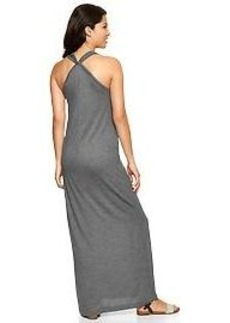Twist-back maxi dress