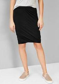 Twist-hem pencil skirt