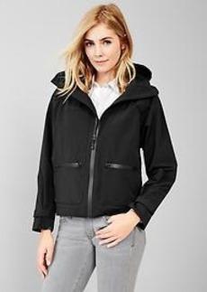 Water-resistant hooded jacket