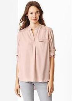 Western Tencel&#174 popover shirt