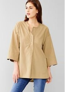 Wide-sleeve popover tunic