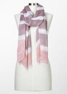 Wide-stripe scarf