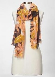 Woodblock border scarf