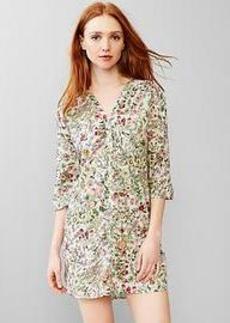 Woven cotton shirtdress
