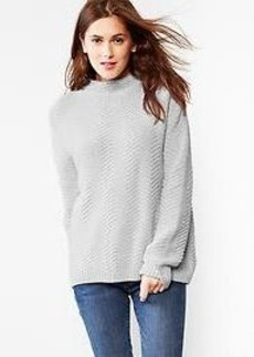 Zig-zag mockneck sweater
