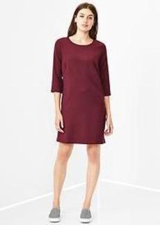 Zip-back shift dress