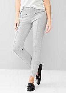 Zip ponte pants