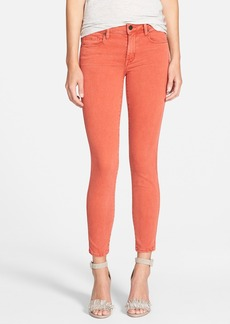 Genetic 'Daphne' Crop Skinny Jeans (Faded Red)