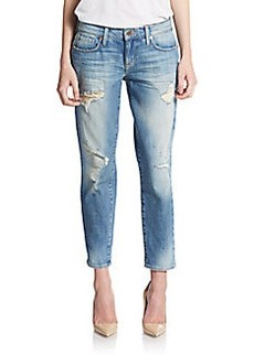 Genetic Denim Alexa Distressed Skinny Straight Crop Jeans