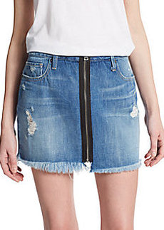 Genetic Denim Taryn Zip-Front Denim Mini Skirt