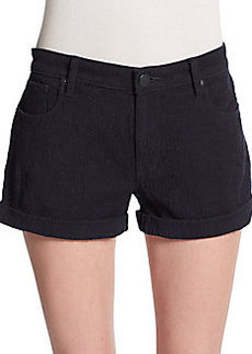 Genetic Denim Uma Jacquard Mid-Rise Shorts