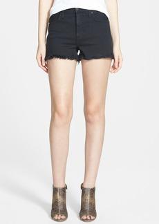 Genetic 'Farrah' High Rise Frayed Denim Cutoff Shorts (Currant)