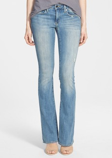 Genetic 'Leaf' Low Rise Flare Jeans (Lagoon)