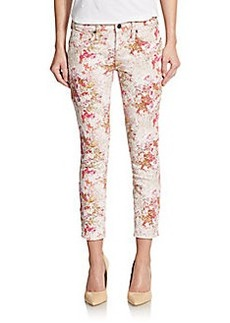 Genetic Los Angeles Brooke Jacquard Cropped Skinny Jeans