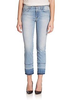 Genetic Los Angeles Olivia High-Rise Cropped Straight-Leg Jeans