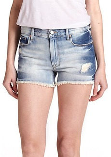 Genetic Los Angeles Stevie Acid-Washed Distressed Denim Shorts