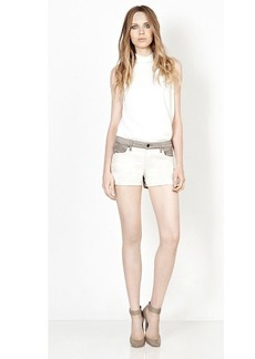 Genetic Los Angeles The Bailey Color Block Scallop Hem Short