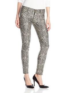 Genetic Los Angeles Women's Shane Faux Pocket Coated Leopard Skinny Jean