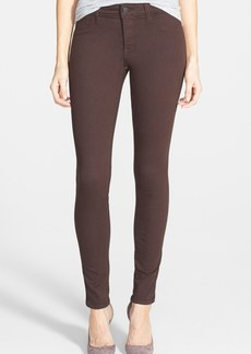 Genetic 'Shane' Mid Rise Skinny Jeans (Chocolate)
