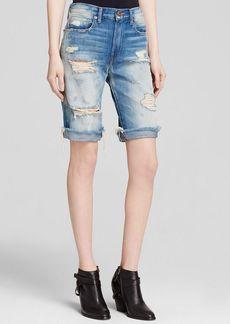 GENETIC Shorts - High Rise Long Denim